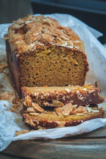 recette, cake, potimarron, gâteau, épices, orange, petit épeautre, amandes