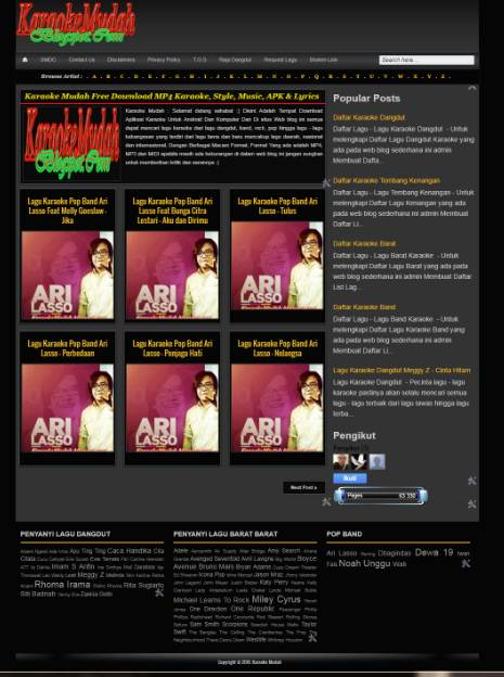 Jual Blog Download Musik Pageview 1000 Per Hari