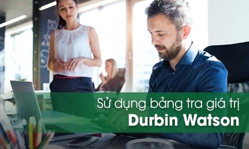 Bảng tra Durbin Watson
