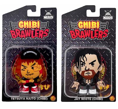 New Japan Pro Wrestling Tetsuya Naito & Jay White Chibi Brawlers Mini Figures by Pro Wrestling Tees x Nerds Clothing