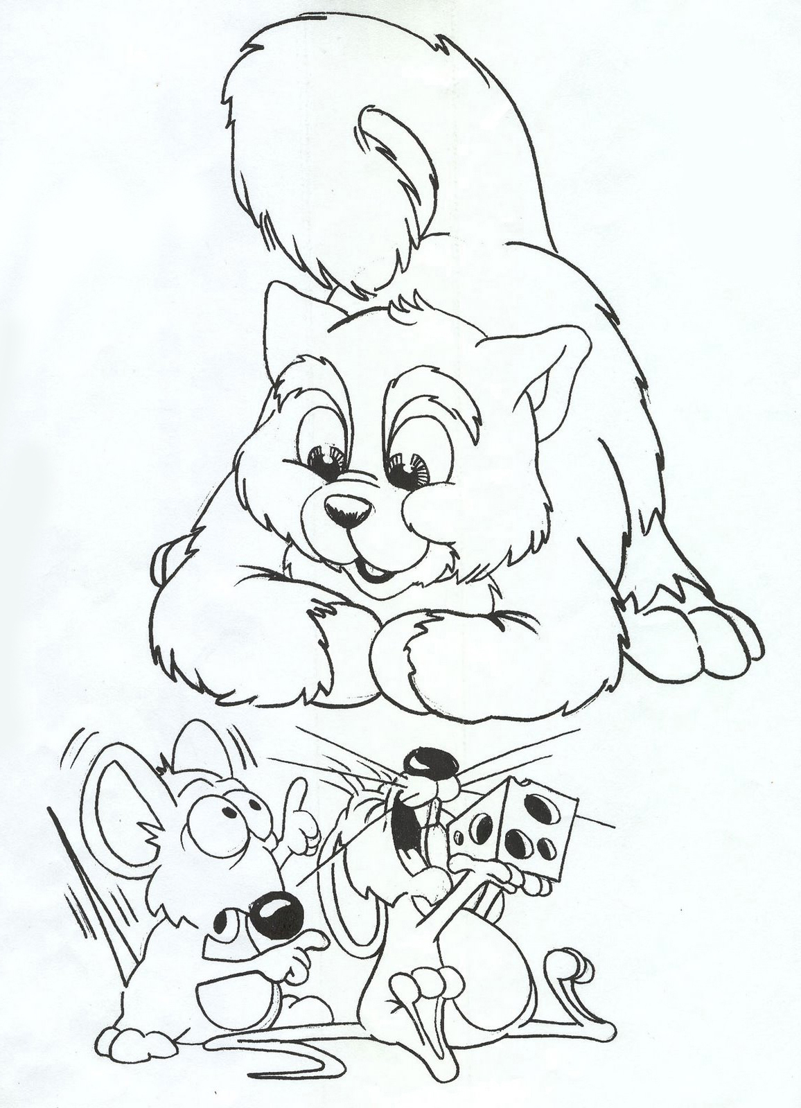 Mouse coloring pages free printable pictures coloring for Rat coloring pages