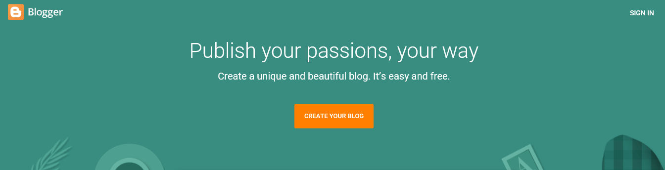 how to create a blog site for free in google