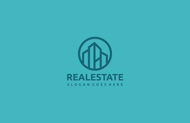 4 Building - Real Estate Logo Building Design