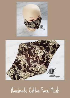 Handmade Cotton Face Mask Brown Floral Moomettes