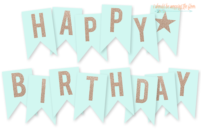 picture about Happy Birthday Printable Letters known as Totally free Printable Joyful Birthday Banner i ought to be mopping