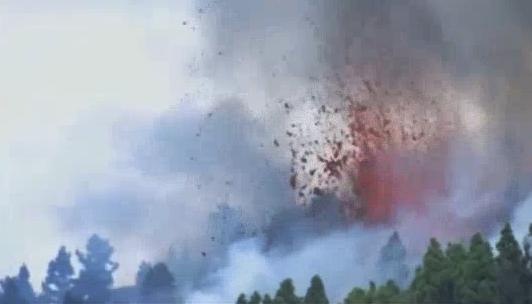 El vídeo de la erupción del Volcán de Cumbre Vieja en la isla de La Palma, islas Canarias
