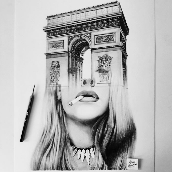 08-Arch-Patrick-Antounian-Black-and-White-Double-Exposure-Drawings-www-designstack-co
