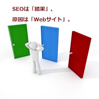 SEOは「結果」、原因は「Webサイト」。