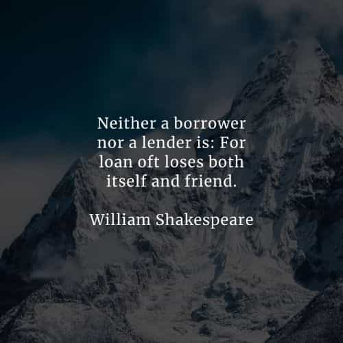 Famous quotes and sayings by William Shakespeare