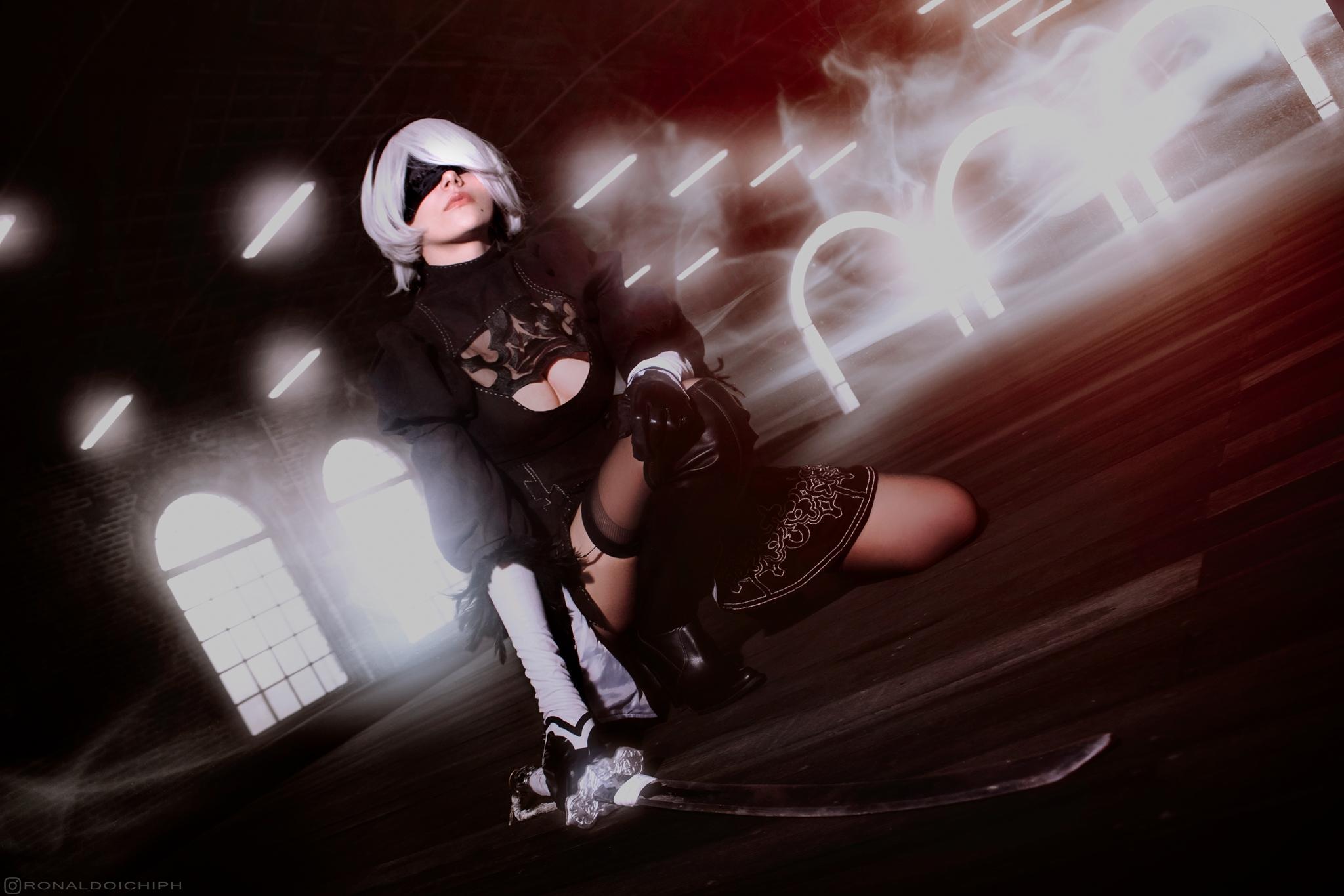 2B YoRHa No.2 Type B cosplay from Nier Automata | cosplayer Yun | cosplay photography by brazilian photographer Ronaldo Ichi.