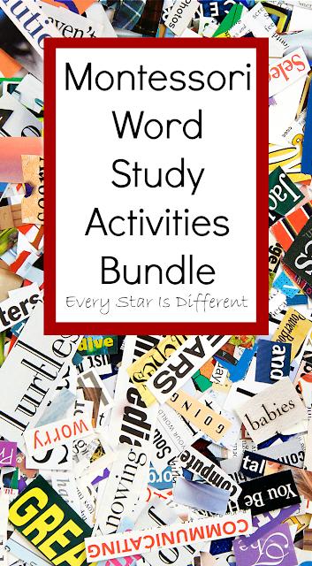 Montessori Word Study Activities Bundle