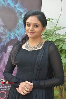 Actress Kala Kalyani Stills in Black Salwar Kameez at Engeyum Naan Iruppen Audio Launch  0003.jpg