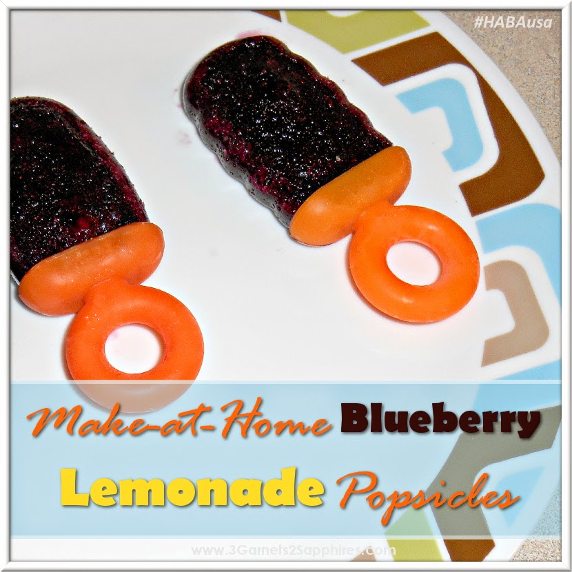 Easy blueberry lemonade popsicle recipe | from 3 Garnets & 2 Sapphires