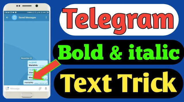 Write in bold italics in Telegram