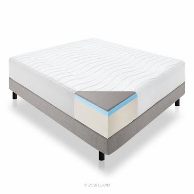 LUCID plush foam king-sized mattress