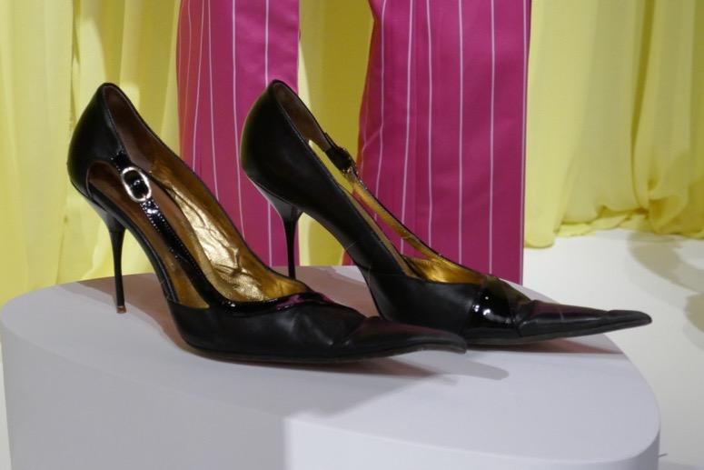 Esmé Squalor pinstripe suit shoes Unfortunate Events