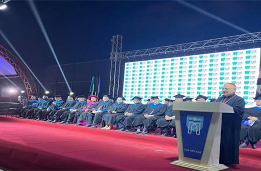 Patriarch Sako celebrates Catholic University graduates
