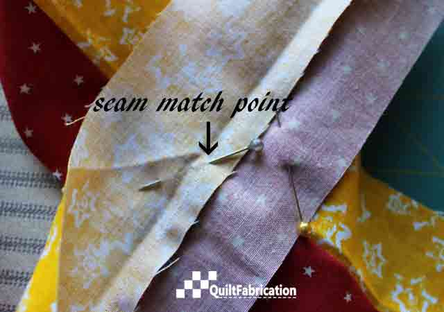 Piped Quilt Binding pinning match point