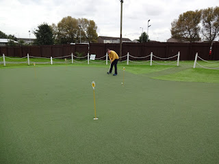 Minigolf course at Liverpool Golf Centre and Driving Range