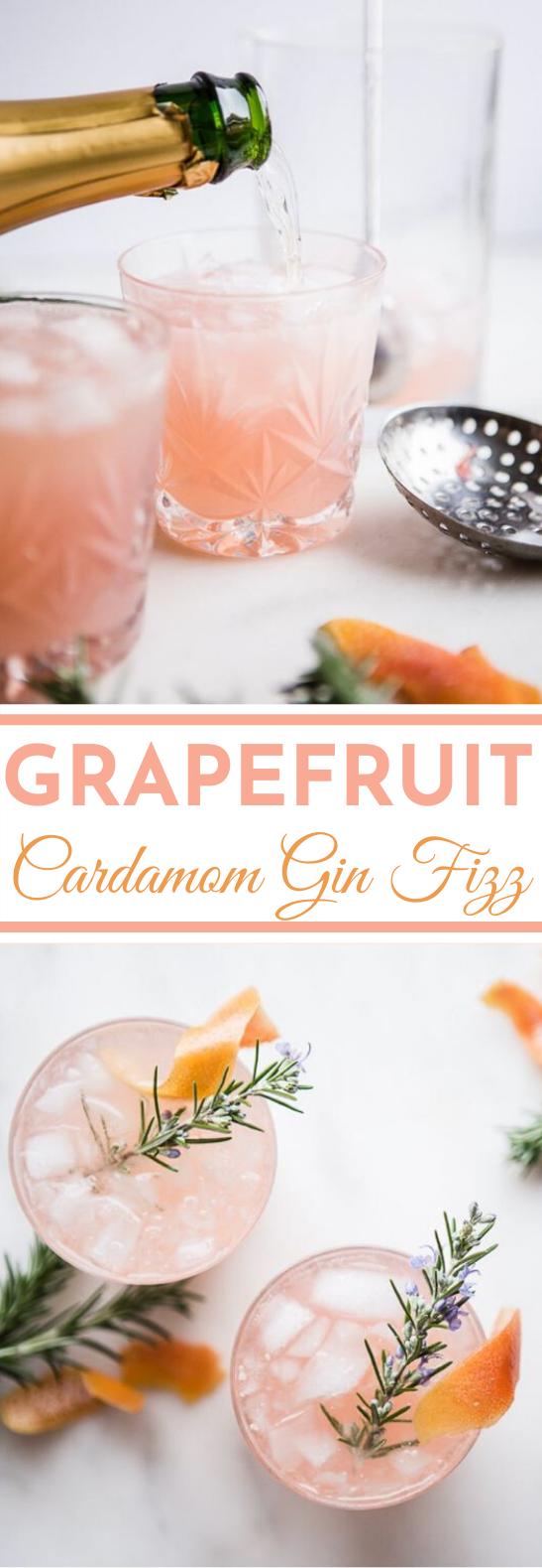 Grapefruit Cardamom Gin Fizz #alcohol #drinks #cocktails #gin #beverages