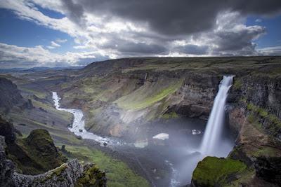 Paisaje panorámico de las tierras altas de Islandia