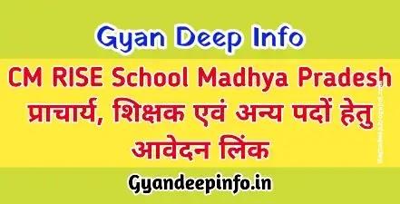 CM RISE School Principal and Teachers Selection Process