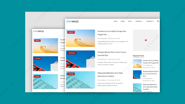 template blogger staymagz