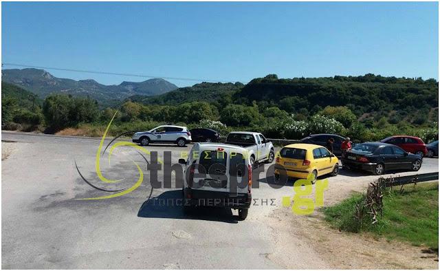 Τροχαίο ατύχημα στην Ε.Ο. Πρέβεζας - Ηγουμενίτσας (+ΦΩΤΟ)