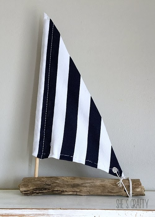 How to make a DIY sailboat from driftwood