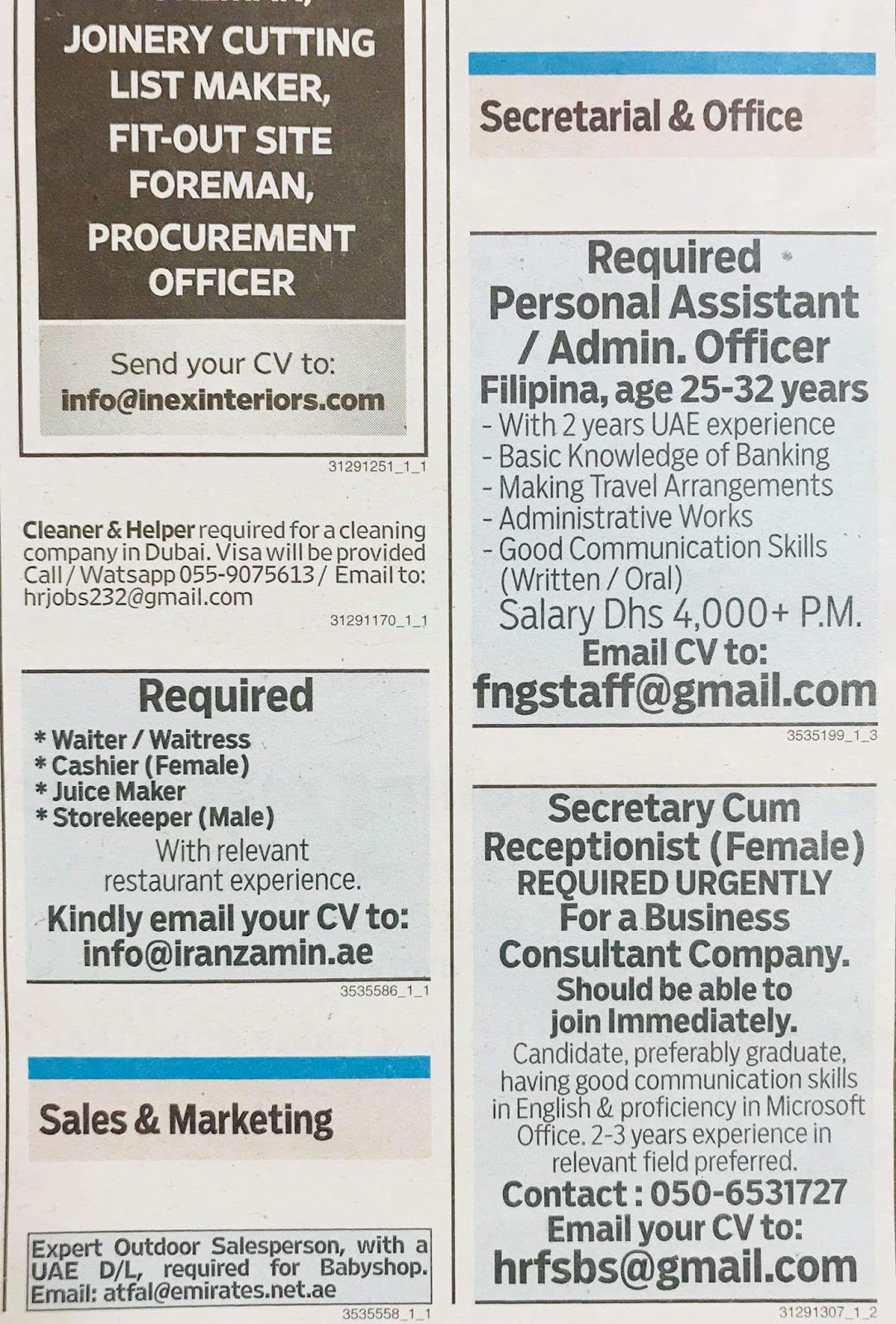 988c7a4bd6a Required Various Position Local Hiring UAE Source Gulf news ...