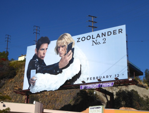 Zoolander 2 movie billboard