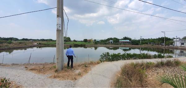 Bán 2824m2 đất NTTS, hẻm đường đan Miếu Bà Cố, xã Bình Khánh