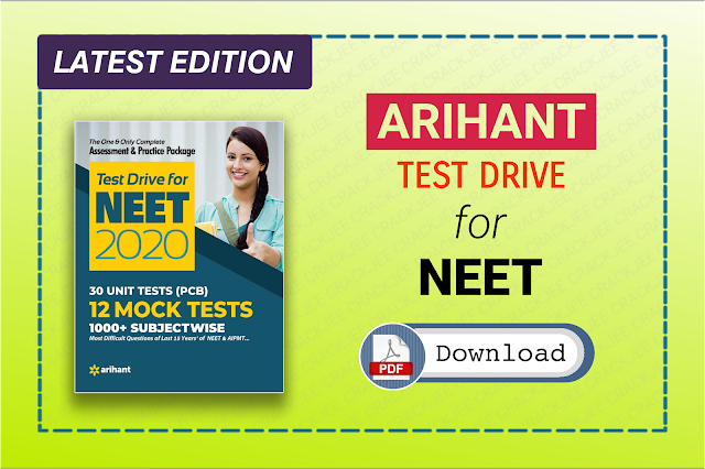 Latest Arihant Test for NEET 2020 View and Download Pdf