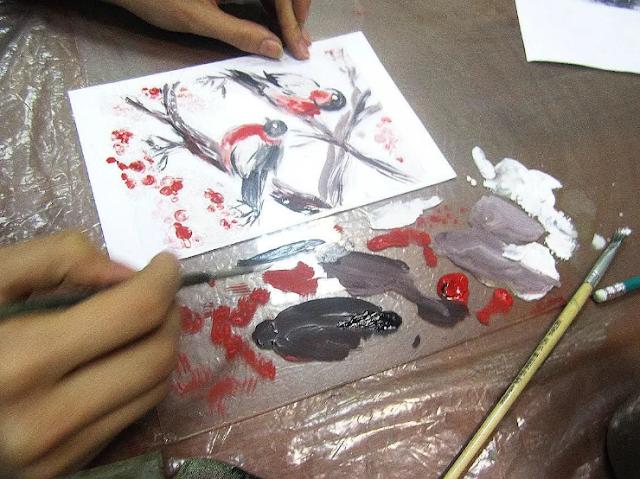 техника монотипии масляными красками