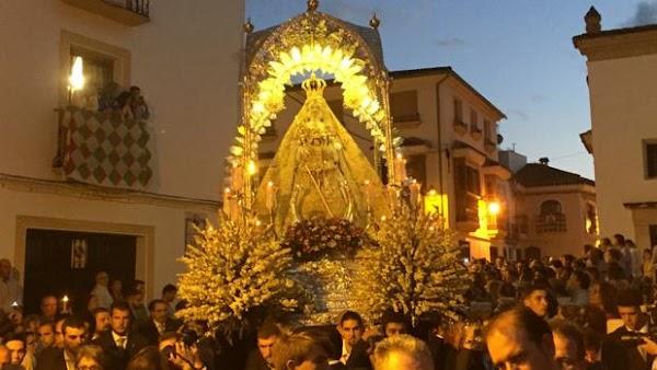 Suspenden todas las procesiones de la Virgen de la Sierra de Cabra, incluida la bajada desde el Santuario