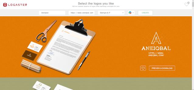 web pembuat logo