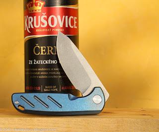 EDC friendly titanium flipper with D2 blade