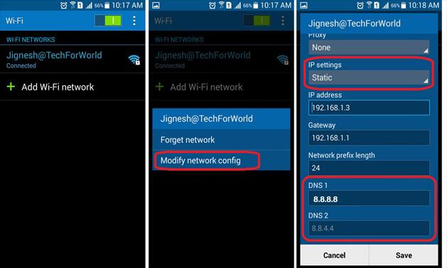 تسريع الانترنت على هواتف الاندرويد عن طريق خدمة DNS