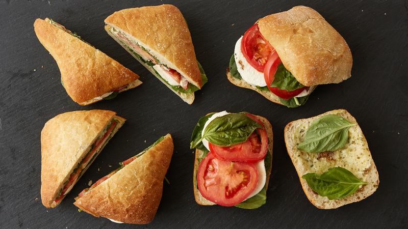 Caprese Sandwiches Picnic