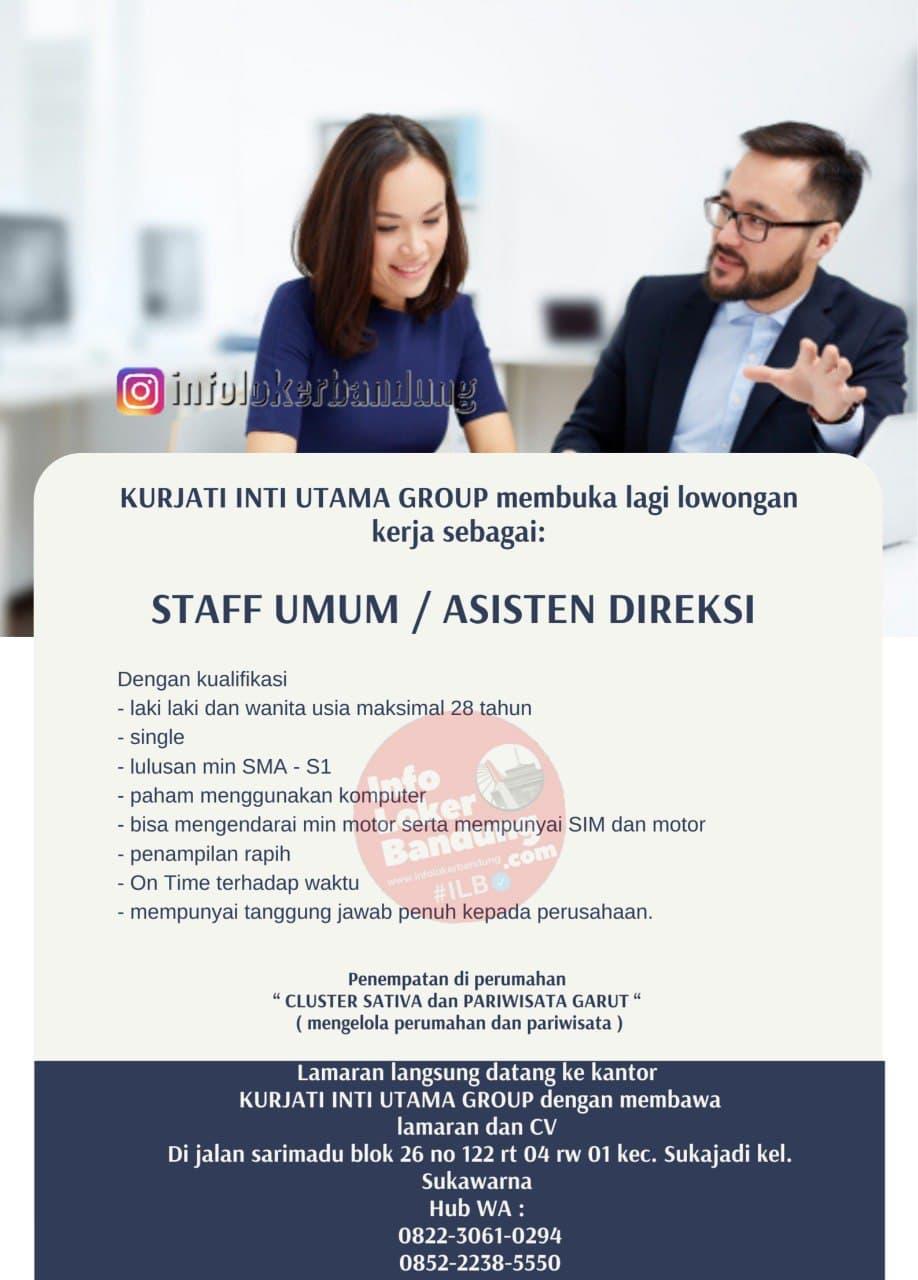 Lowongan Kerja Kurjati Inti Utama Group Bandung April 2021
