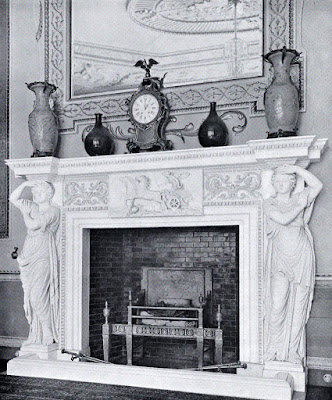 The fireplace in the Saloon, Hatchlands  from The architecture of Robert and James Adam by AT Bolton (1922)