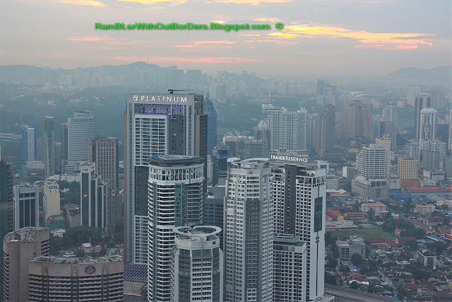 Cityscape Panorama, as viewed from Nobu restaurant, KL, Malaysia