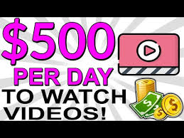 EARN $500.00 IN 1 DAY ONLINE: MAKE MONEY WATCHING VIDEOS ONLINE