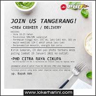 Lowongan Kerja Pizza Hut Delivery (PHD) Tangerang