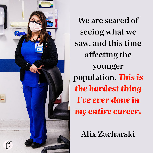 We are scared of seeing what we saw, and this time affecting the younger population. This is the hardest thing I've ever done in my entire career. — Alix Zacharski, a nurse manager at Jackson, Florida's largest public hospital