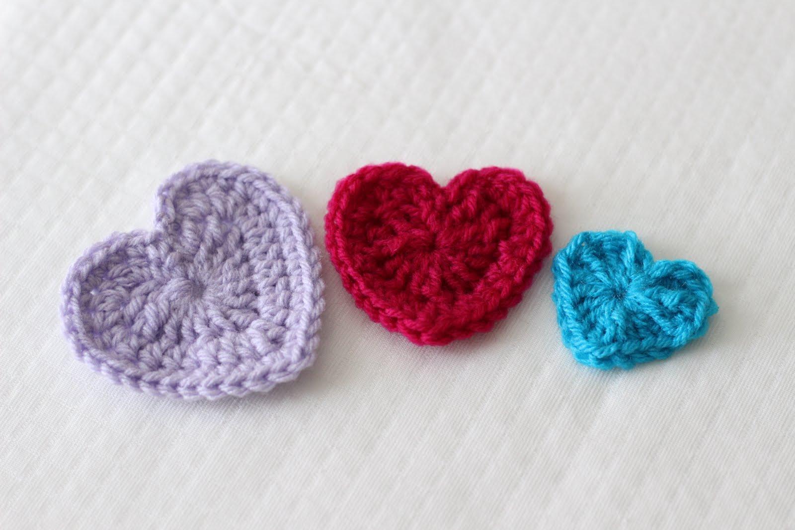 Easy Crochet Hearts - 3 Sizes - Sewrella