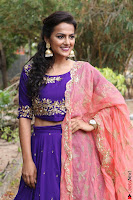 Actress Shraddha Srinath in Purple Chania Choli Cute Pics ~  Exclusive 58.jpg