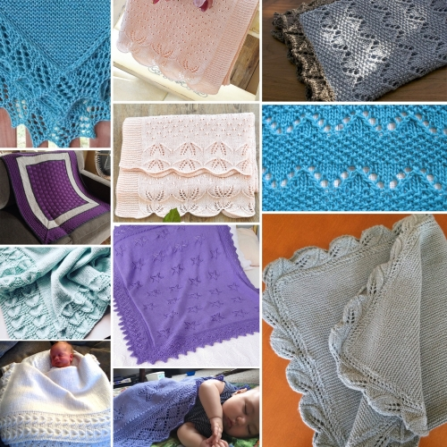 Bordered Baby Blanket Knitting Patterns