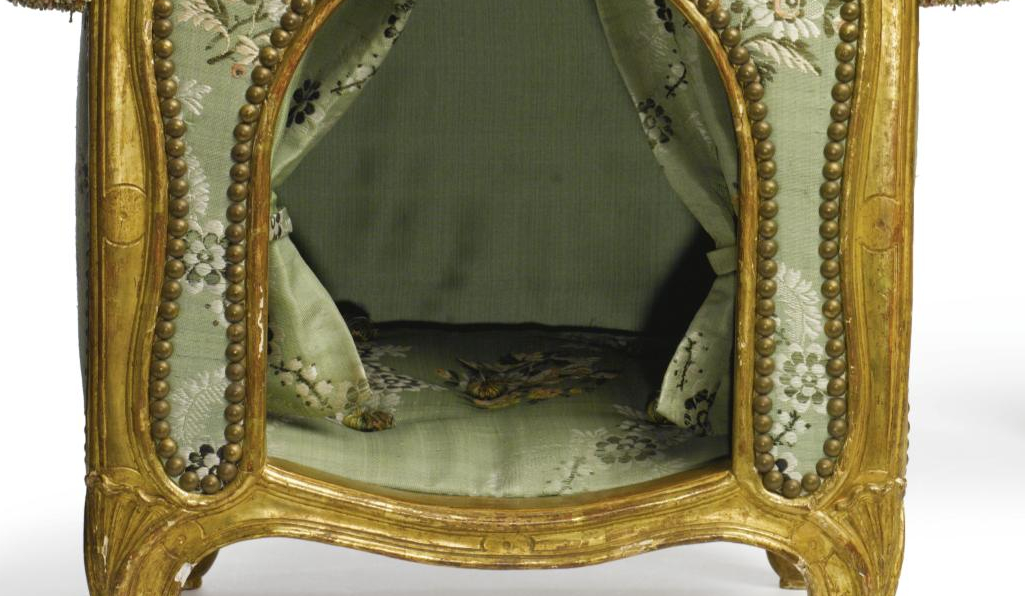 close detail of the inside of the A Pair of Louis XV Dog Kennels