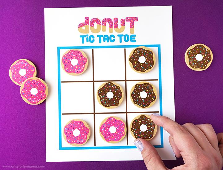 Free Printable Donut Tic Tac Toe